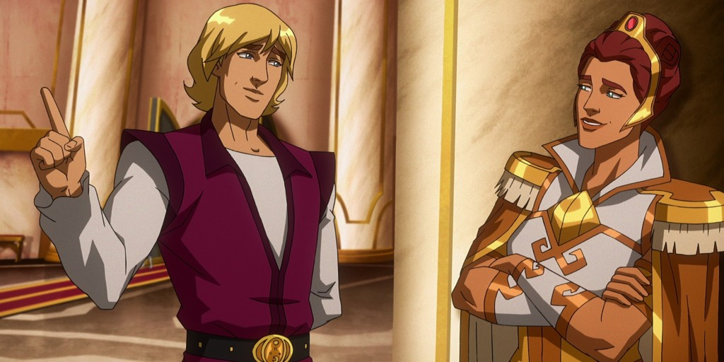 Prince Adam and Teela.