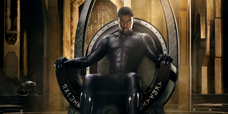 Chadwick Boseman as T'Challa in Ryan Coogler's 2018 film, Black Panther.