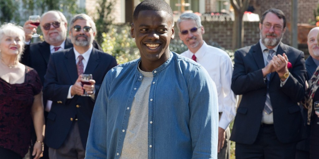 Chris realizes something is wrong with the white folk in Get Out.